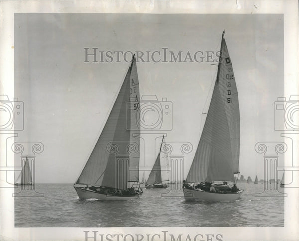 1950 Yachting Race Chicago Macinac - Historic Images