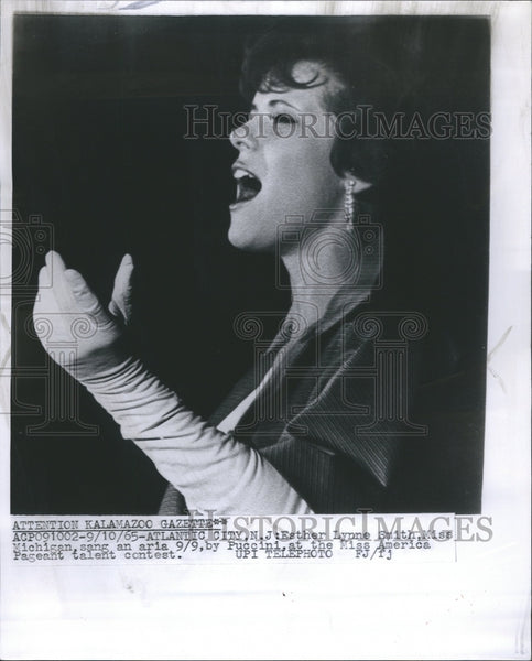 1965 Esther Lynne Smith Miss America Sing - Historic Images