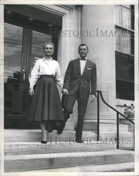 1954 David Wayne Joan FOning Actor - Historic Images