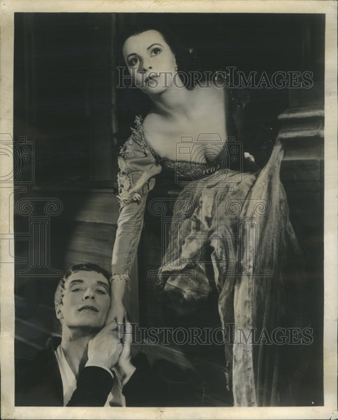 1957 John Neville Claire Bloom Romeo Juliet - Historic Images