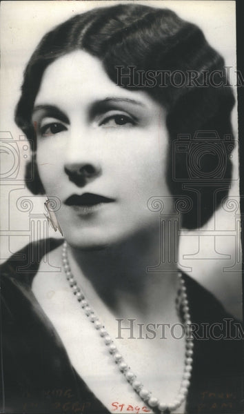 1928 Mary Nash American Actress Dramatic - Historic Images
