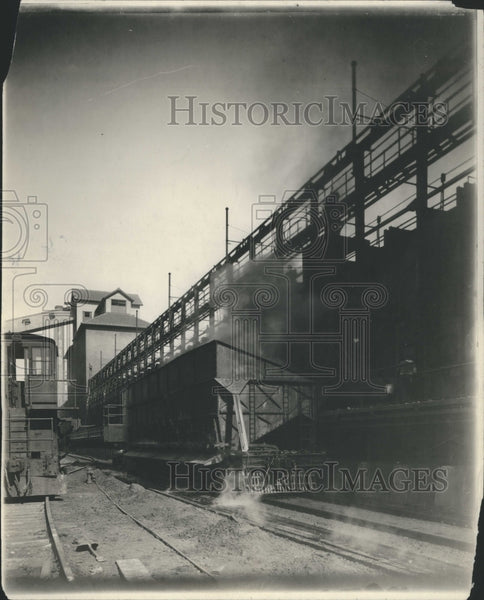 1921 Forf Blast Furnaces.Discharge Coke Car - Historic Images