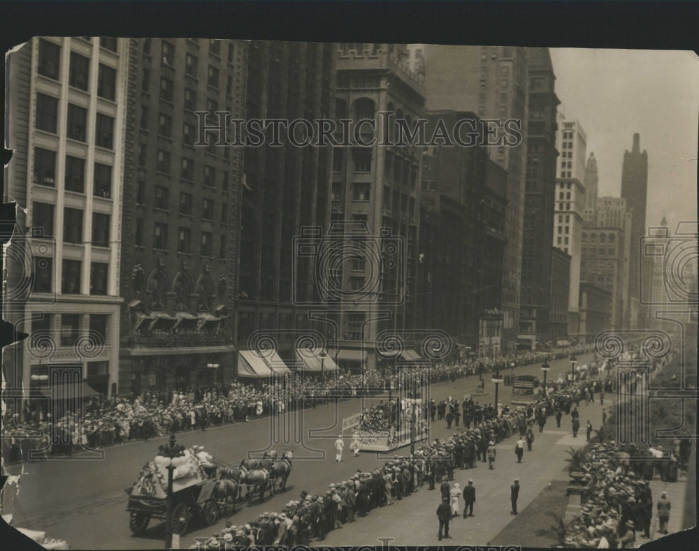 1931 Press Photo Michigan Ave