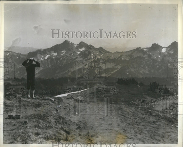 1929 Press Photo Mr. Bainier USS California Mountains