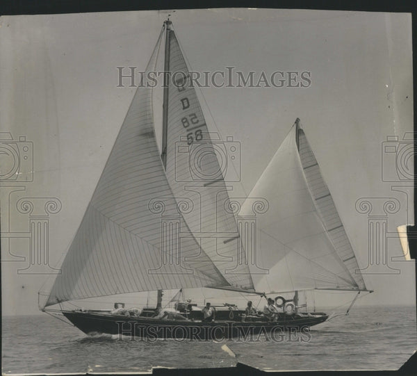 1953 Press Photo Chicago Yacht Club Sail Boat Race