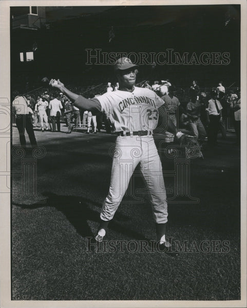 1971 Press Photo Lee May Cincinnati baseball player