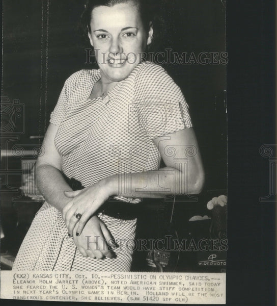 1935 Press Photo American Swimmer Eleanor Holm Jarrett