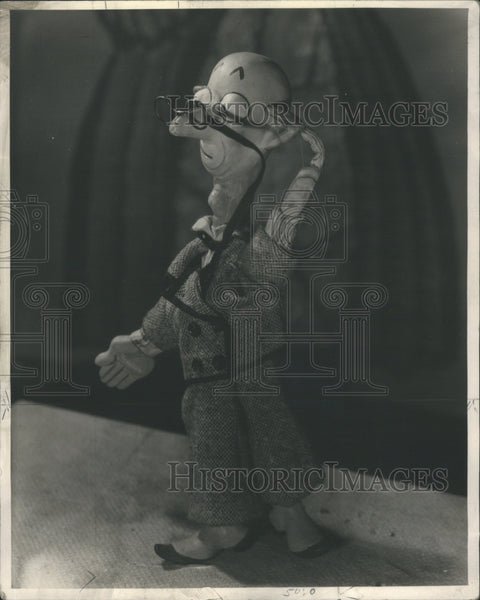 1937 Magician Stooge Bunin Animated Puppets - Historic Images