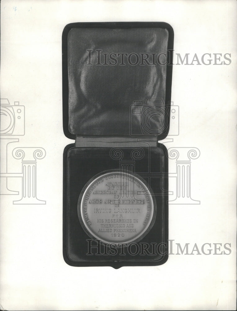 1921 Press Photo Rumford Medal Awarded Royal Society