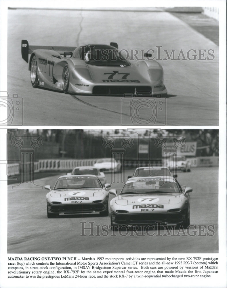 1934 Press Photo Mazda Motorsport RX-792P Racer Sport