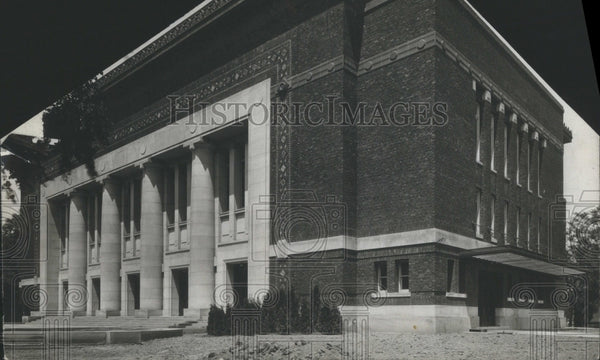 1919 Press Photo Hill Auditorium Building at the U of M