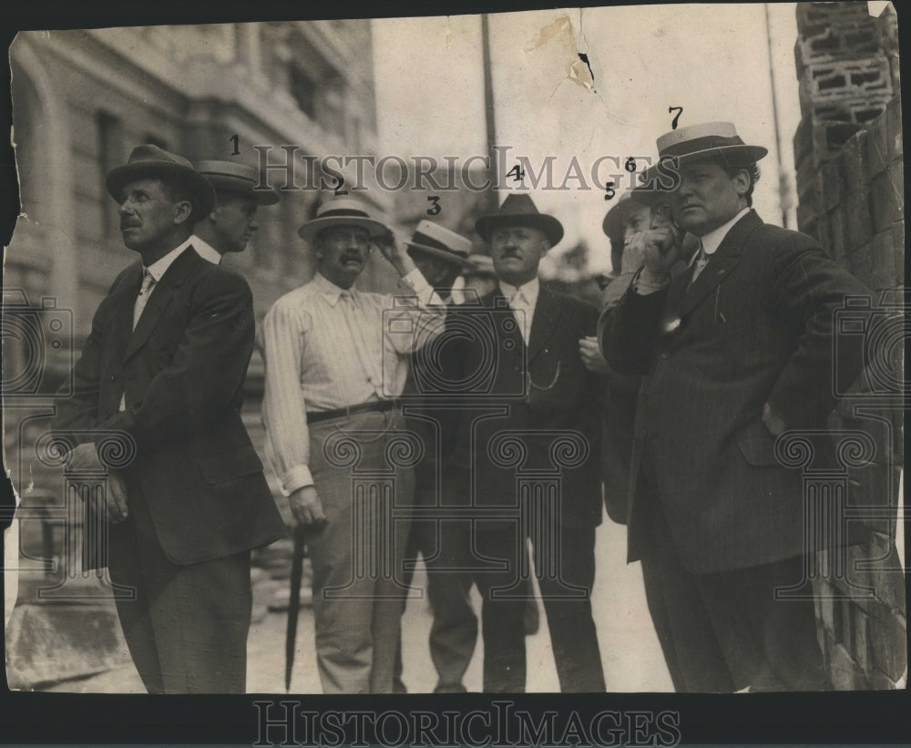 1913 Press Photo Warden Bailey Commissioner
