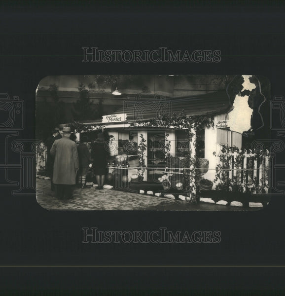 1928 Press Photo Flower Show Heny Exhibit Ideal Roadsid