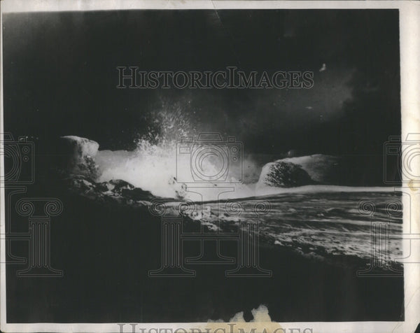 1928 Press Photo Halcmaumau Pit Killaue Volcane Haweli