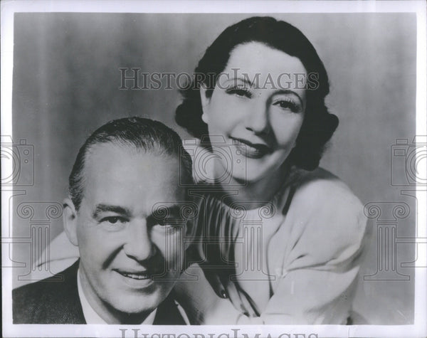 1950 Press Photo Actors Alfred Lunt and Lynn Fontanne