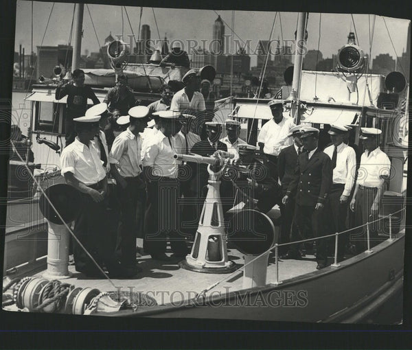 1931 Prohibition Enforcement Cruiser Crew - Historic Images