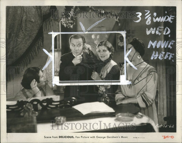 1931 Delicious Film Actors Phone Scene - Historic Images