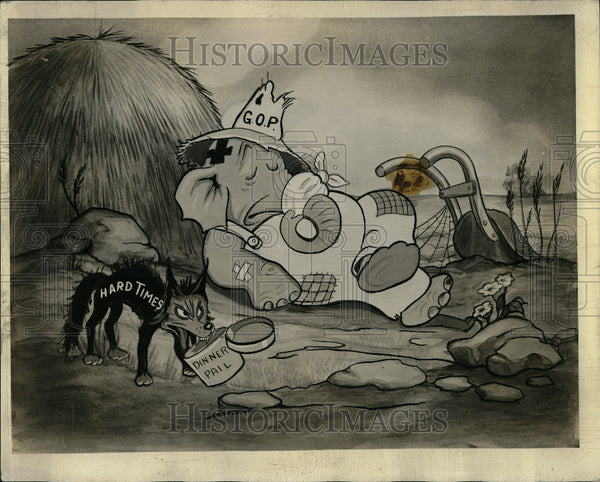 1936 Picture Cartoon Scene Elephant - Historic Images