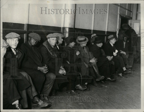 1932 Fisher Lodge Unemployment Michigan - Historic Images