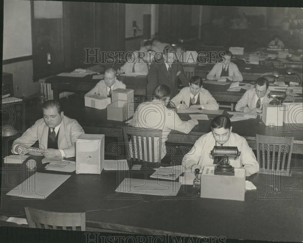 1940 Election Commission Office - Historic Images