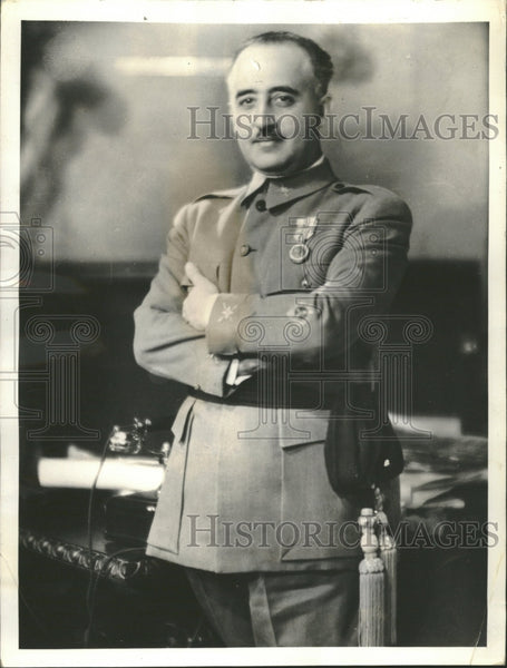 1937 General Franco go-between Hitler - Historic Images