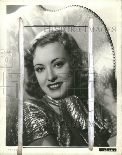 1937 Singer Actress June Gale - Historic Images