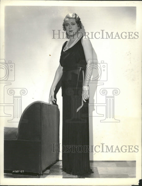 1933 Mary Boland Actress Evenings For Sale - Historic Images