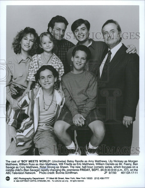 Boy Meets World Cast ABC Television Series - Historic Images