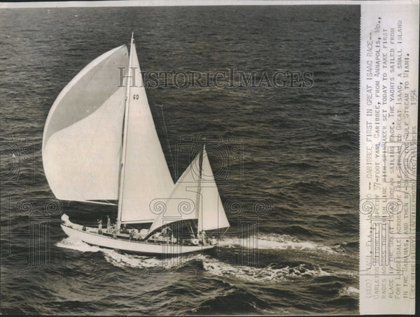 1954 Caribbee first in Great Isaac race - Historic Images