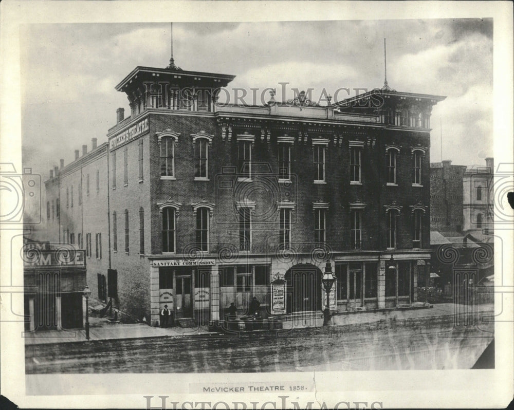 1922 Copy of 1858 McVicker Theatre Exterior - Historic Images