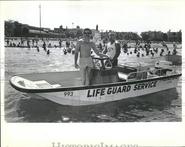 1982 Bob Mansfield Dave Cicero life guard - Historic Images