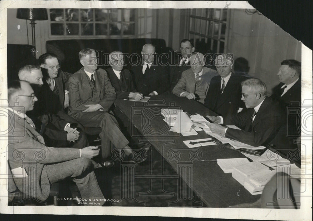 1931, Conference with President Hoover - RRV04915 - Historic Images