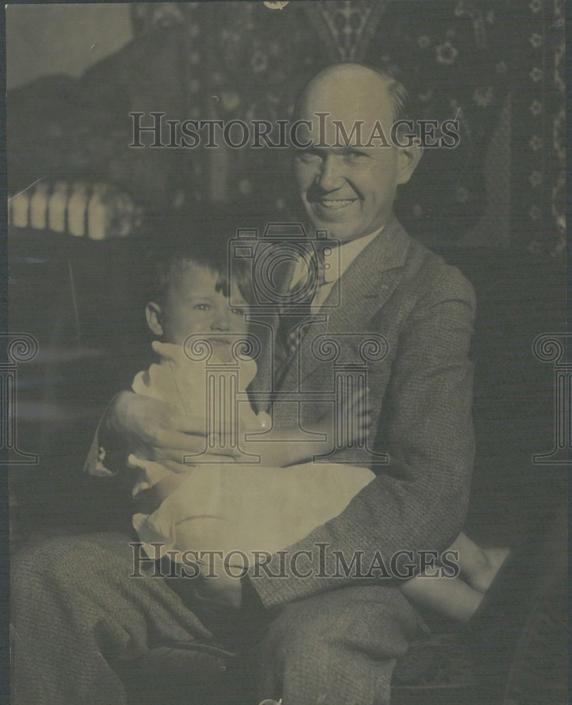 1930, Brown Eye Hair Baby Boy Jefferson Home - RRV22289 - Historic Images