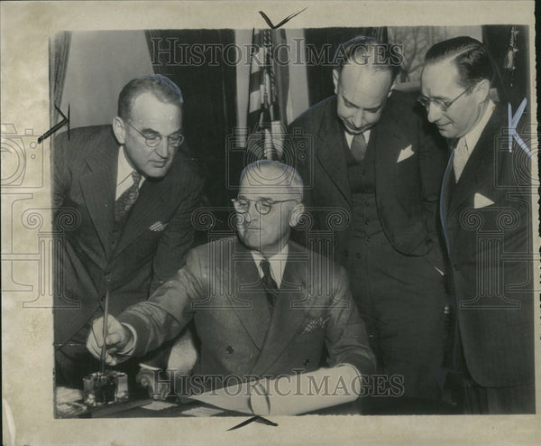 1946 Press Photo President Harry S Truman Politician - Historic Images