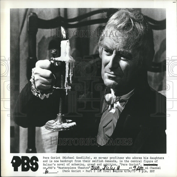 "1973 Press Photo Micheal Goodlife In Play ""Pere Goroit"" - RRV26575 - Historic Images"