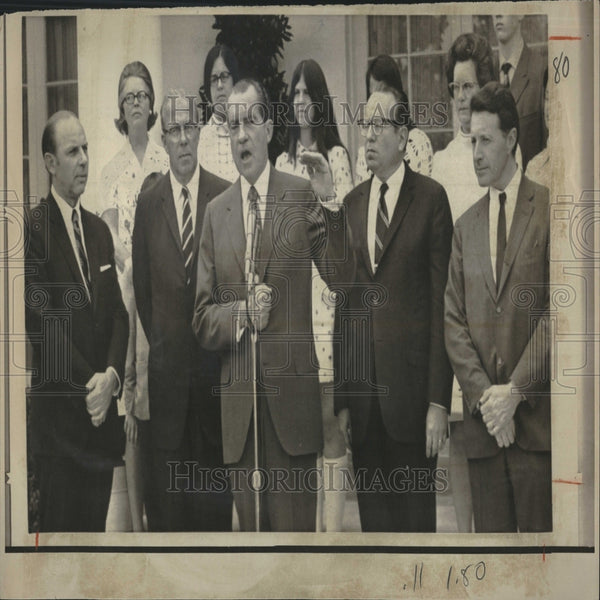 1970 Press Photo Nixon Annoucing Cabinet Changes - RRV27199 - Historic Images