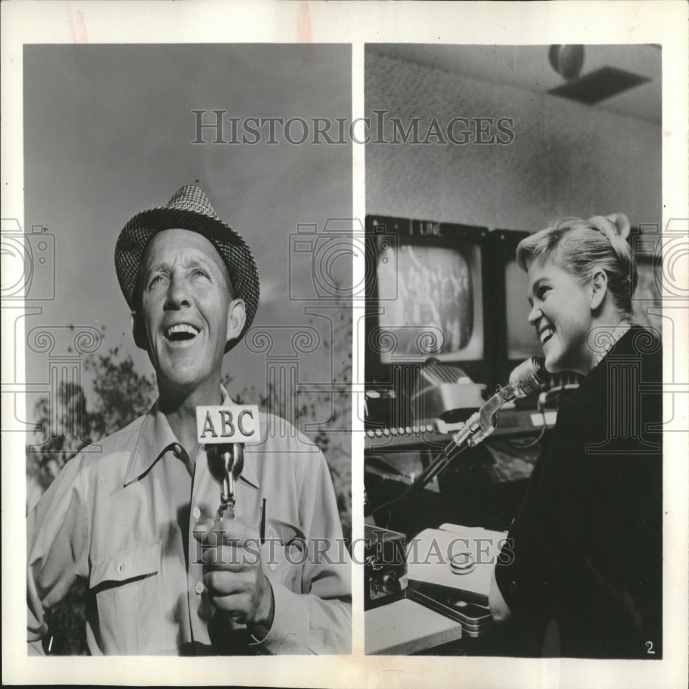 1961 Press Photo Bing Crosby Golf Tournament ABC TV - RRV27841 - Historic Images
