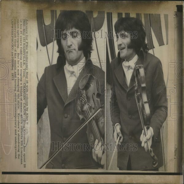 1973 Press Photo Doug Kershaw/Fiddle Player/Singer - RRV28253 - Historic Images