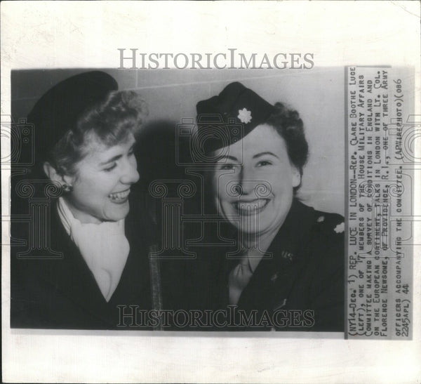 1944 Rep Clare Boothe Luce England Military - Historic Images