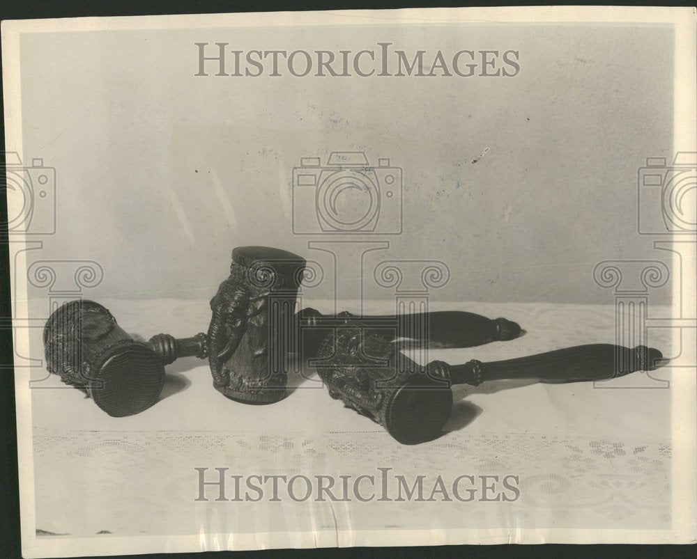 1929, Republican Party Historic Wood Gavels - RRV96165 - Historic Images