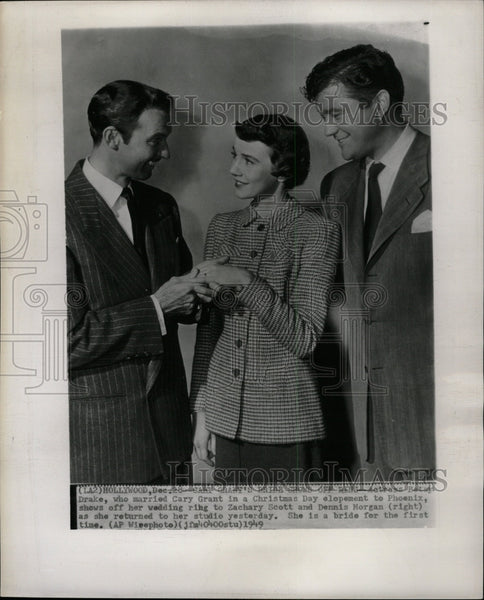 1949 Press Photo Betsy Drake Zachary Scott Morgan - RRW18311 - Historic Images