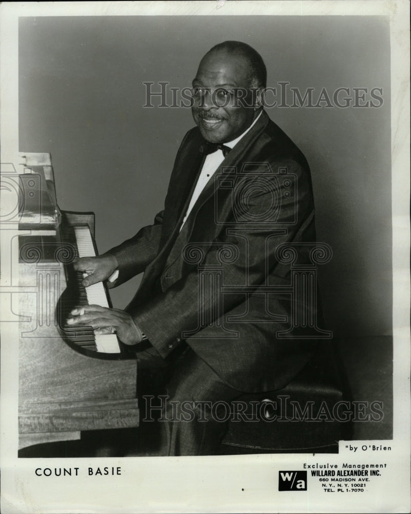 1967 Press Photo William Count Basie Bandleader Pianist - RRW26185 - Historic Images