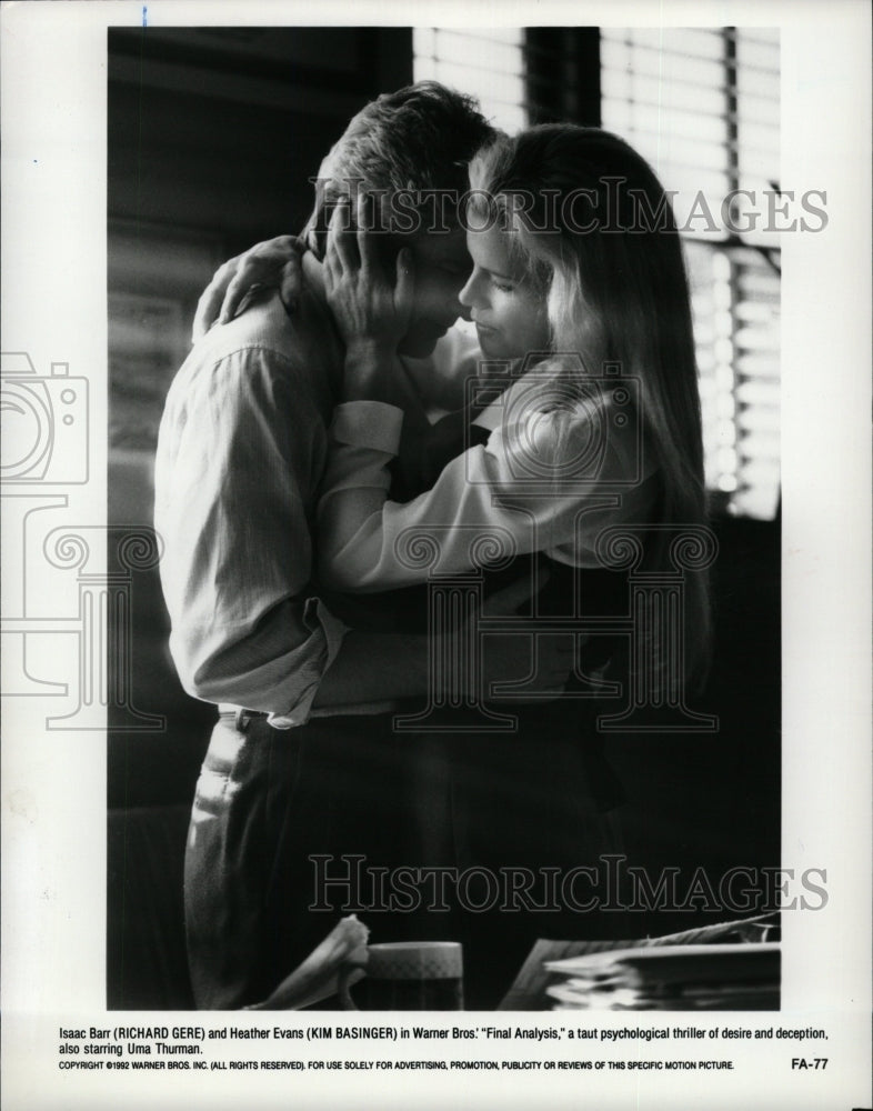 1992 Press Photo Richard Gere Kim Basinger Actress - RRW26205 - Historic Images