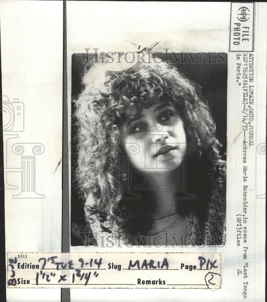 1973 Press Photo Actress Maria Schneider Ccene Tango - RRW31713 - Historic Images