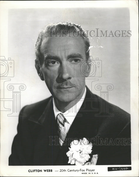 1946 Press Photo Clifton Webb Actor - RRW38791 - Historic Images
