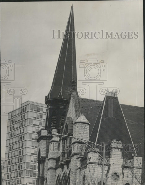 1965 Press Photo Steeple Olivet Baptist church South - RRW43203 - Historic Images