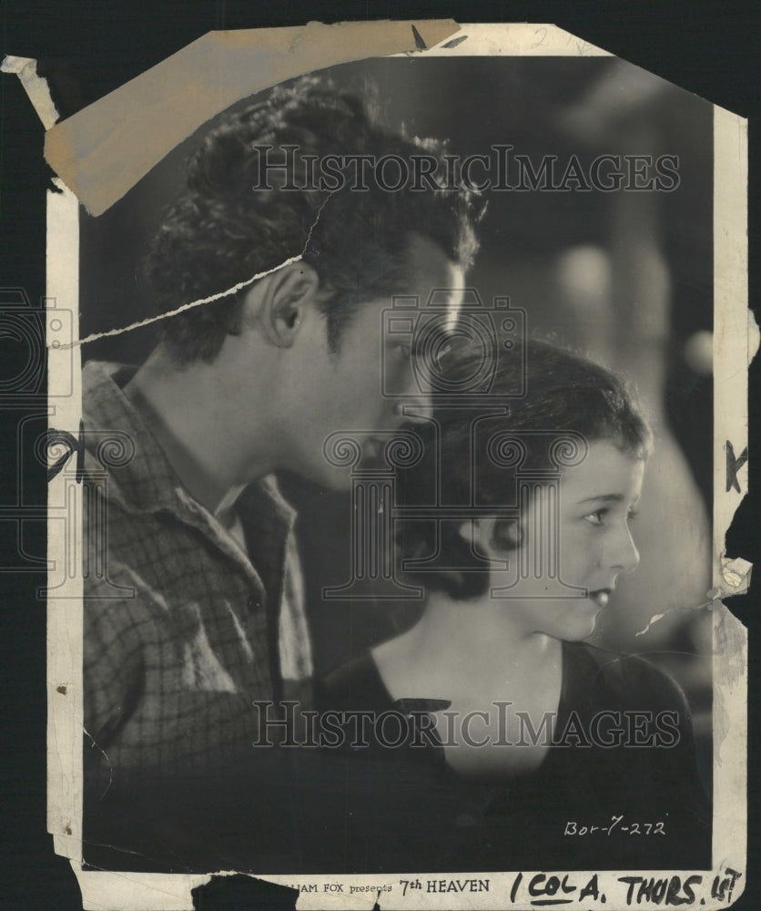 1931 Press Photo 7th Heaven Film Couple Scene Promo - RRW45363 - Historic Images