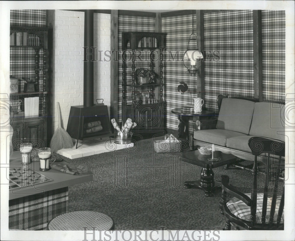 1973 Press Photo Interior Decorating Family Room - RRW53685 - Historic Images