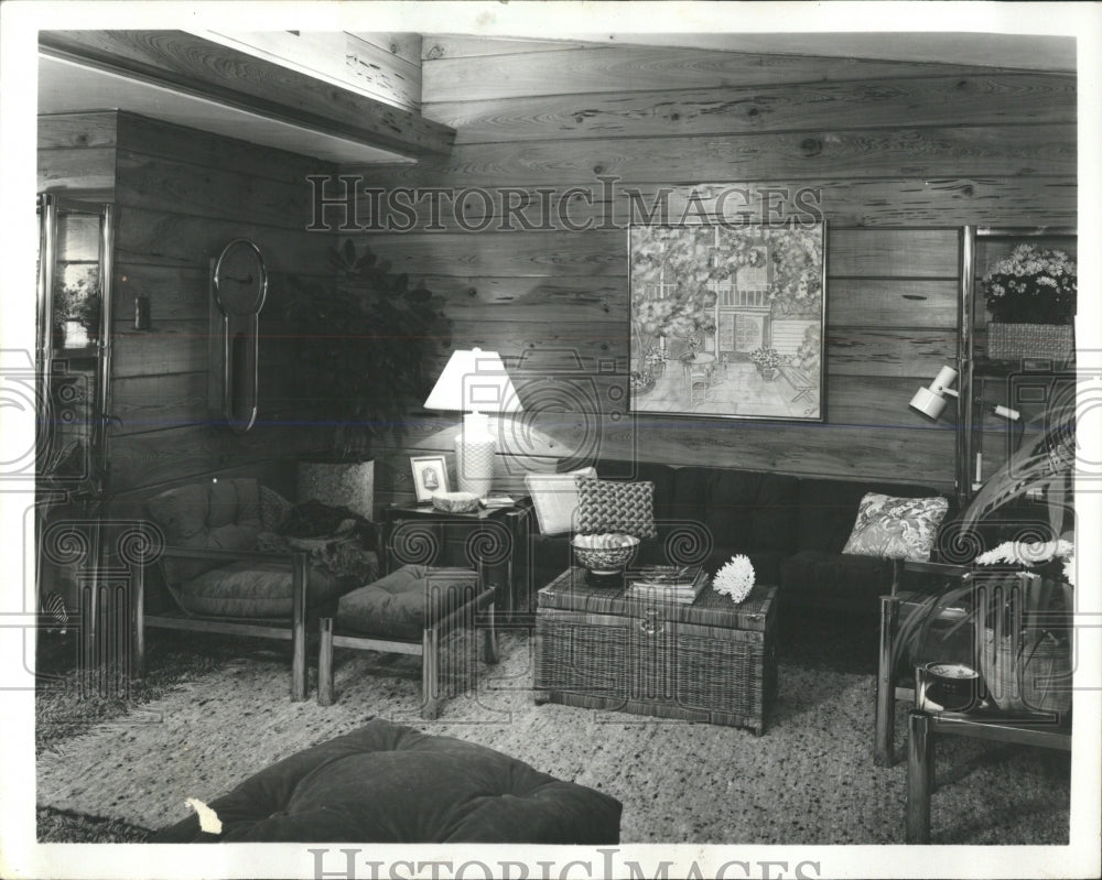 1977 Press Photo Family Room - RRW53703 - Historic Images