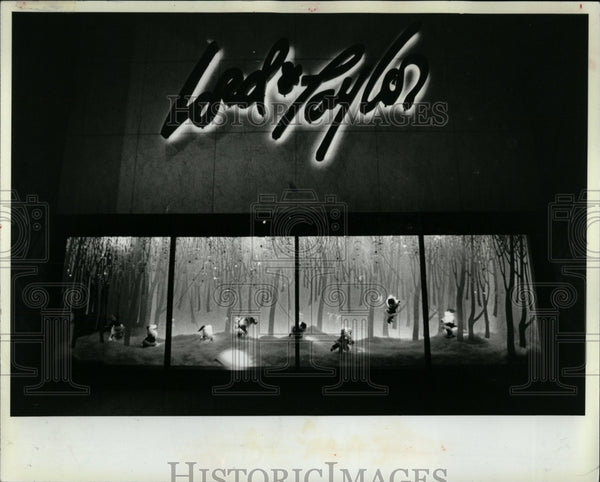 1982 Press Photo State Street Window Lord Taylor Marsha - RRW55445 - Historic Images